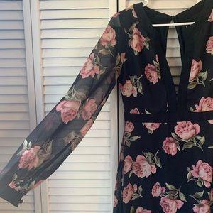 Floral Lulus Maxi Dress